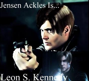 Jensen ackles leon kennedy