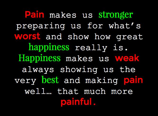 Pain vs Happiness by WhiteBleedingFox