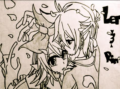 Len and Rin by WhiteBleedingFox