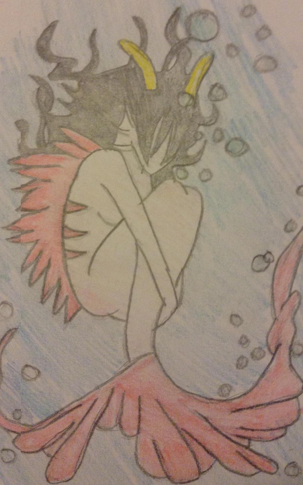 Fef the Mermaid [HS] (doodle) by WhiteBleedingFox