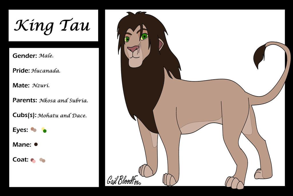 King Tau Character Card by WhiteBleedingFox