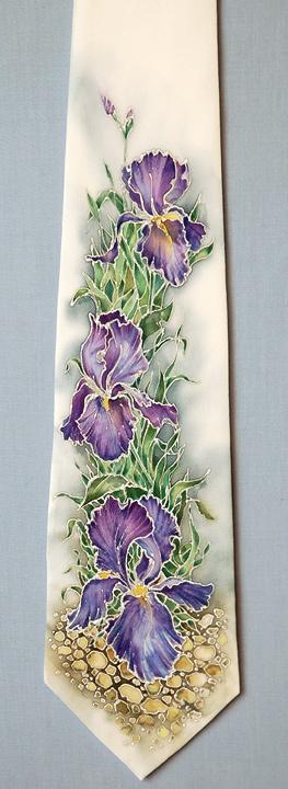 tie with irises by ireneya