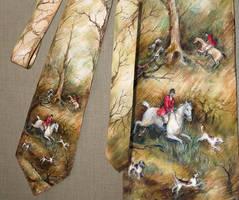 tie with  fox hunting by ireneya