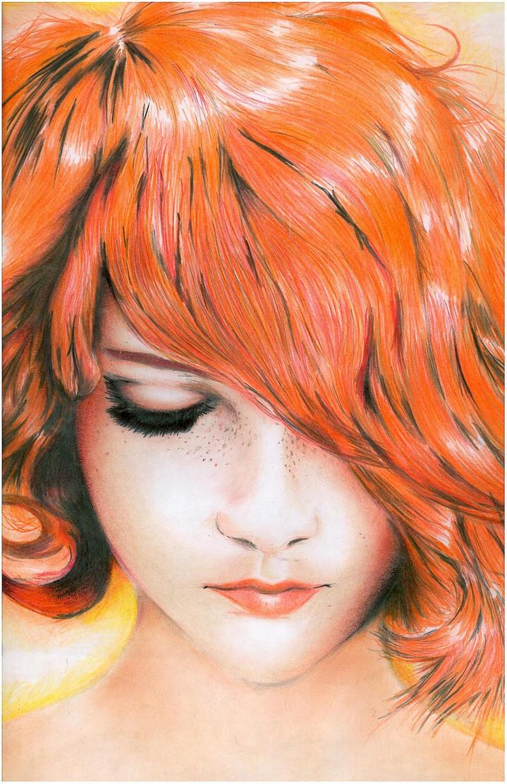 Redhead girl by jupiterone25