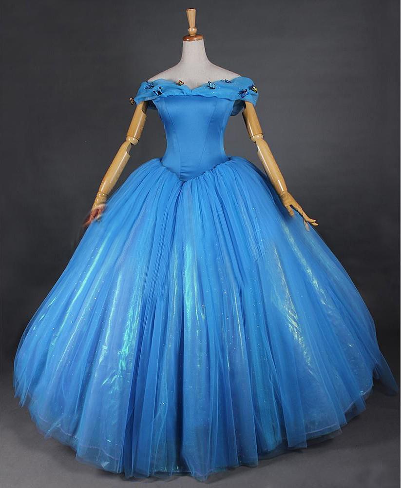 Disney Store Cinderella Light Up Costume Fancy Dress: 2015 Disney Hot Movie Cinderella Party Dress By Namiioe On