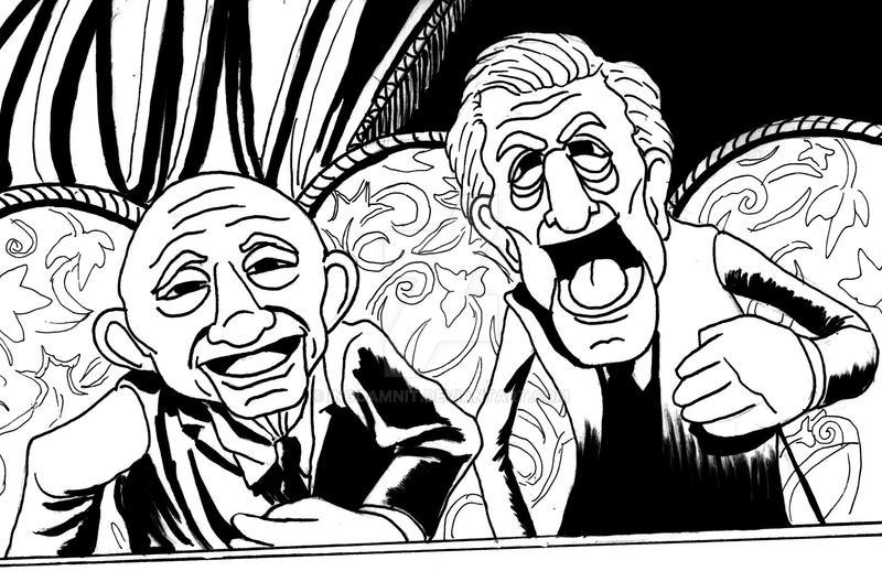 Ian McKellen and Patrick Stewart as Muppets by IngDamnit