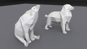 low-poly polar bear