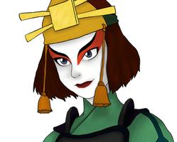 The Legend Of Aang: Suki portrait by DeJakob