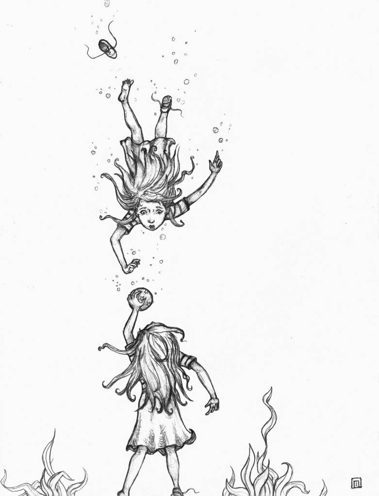 Sketch for Annabella's Plunge by soma
