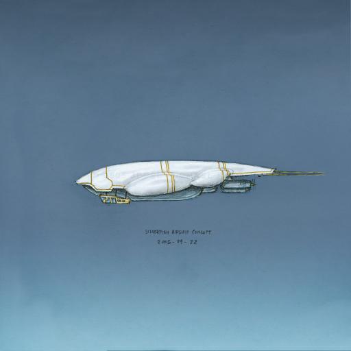 Silverfish Airship by soma