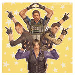 [Resident Evil 6] Chris / Piers / Jake / Leon by DaddyCaptainWesker