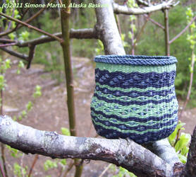 Alaska Cosmic Garden Basket by alaskabaskets