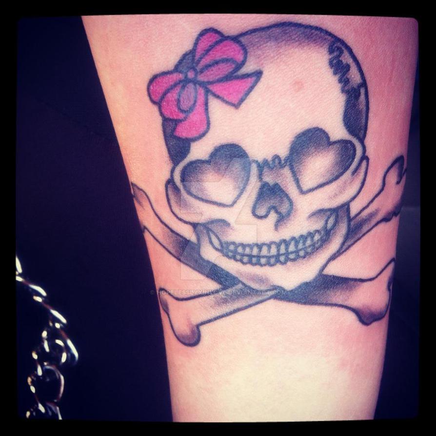 Girly Skull Tattoo by hopelesslyxinlove on DeviantArt