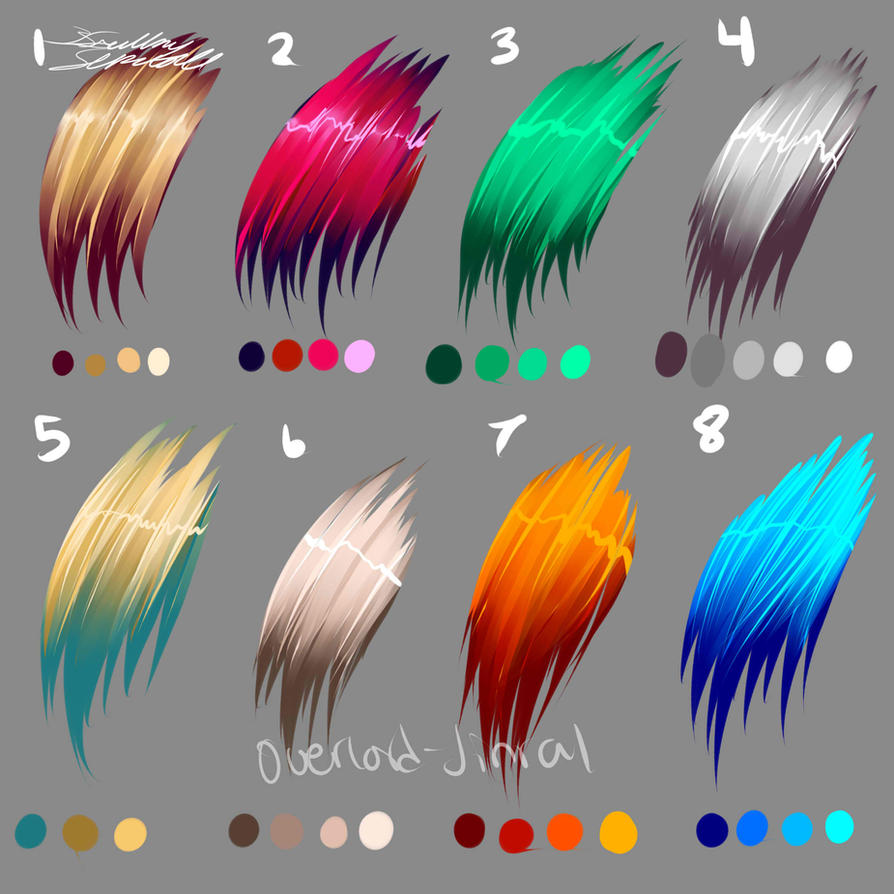Hair Colors by Overlord-Jinral on DeviantArt