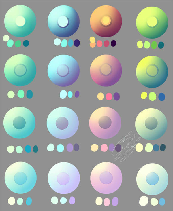 Pastel and non pastel eye swatches. by Overlord-Jinral on ...