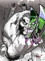 Wolvie vs Hulk! by Nardius