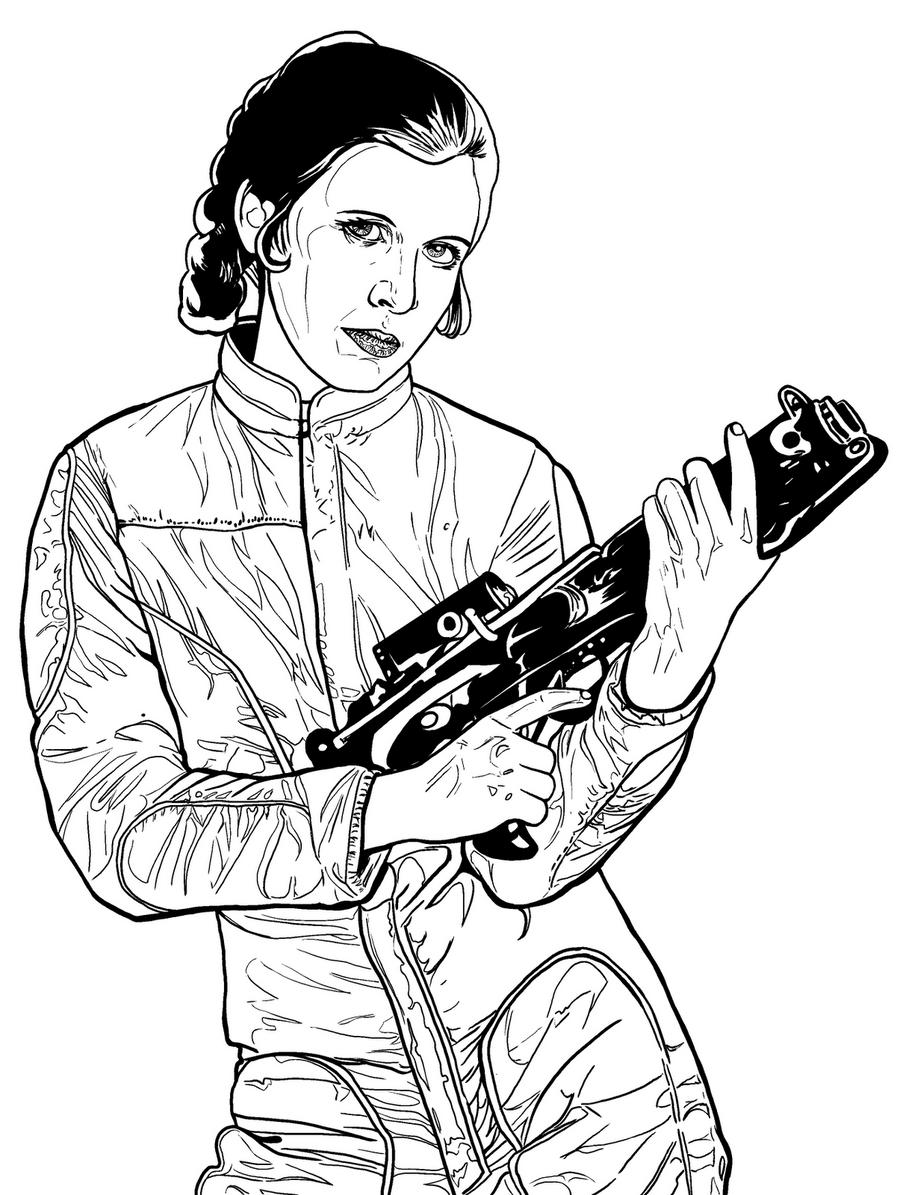 princess leia  armed and dangerousartistafrustrado