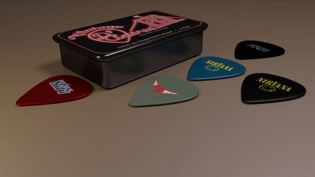 My guitar pic's box