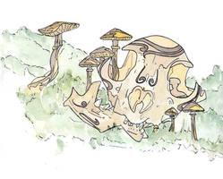 Cat X Mushrooms