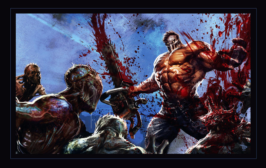 SplatterHouse E3 Banner Art by Dave-Wilkins