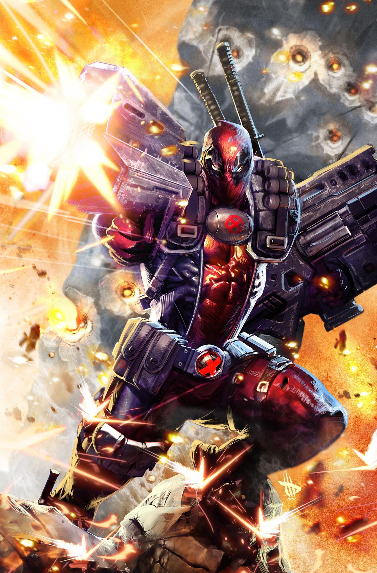 Deadpool in Cable's undies