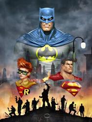 Bat-DARK KNIGHT Blue