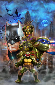 BatmanTMNT cover Wilkins