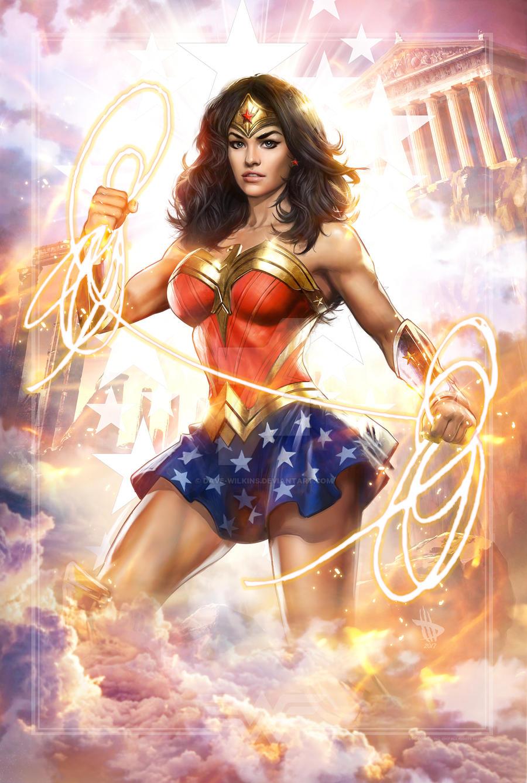Wonder Woman 4 wondercon!!! by Dave-Wilkins