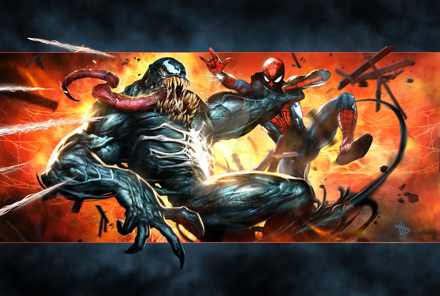 Venom on the attack!! by Dave-Wilkins