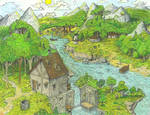Summer in a Medieval Valley