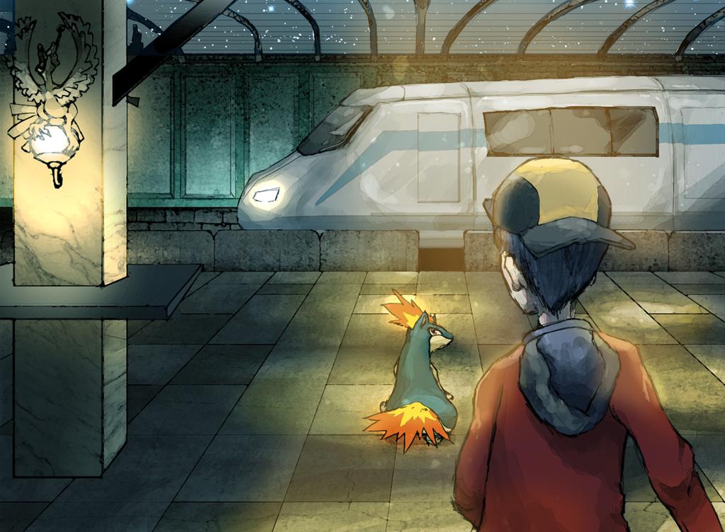 Midnight Magnet Train by RexBAti