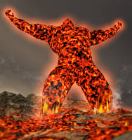 The fire elemental by mrkillabee