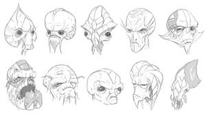 Alien Heads by mattbag
