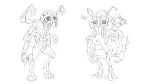 Dopey Spider Aliens by mattbag