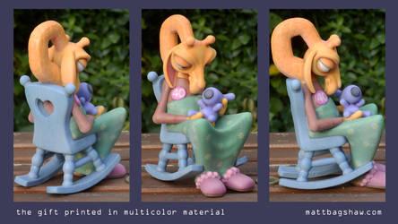 Birthday Giraffe 3D Print by mattbag