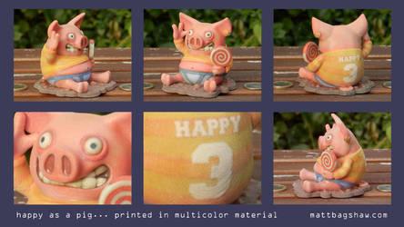 Happy as a Pig... 3D Print