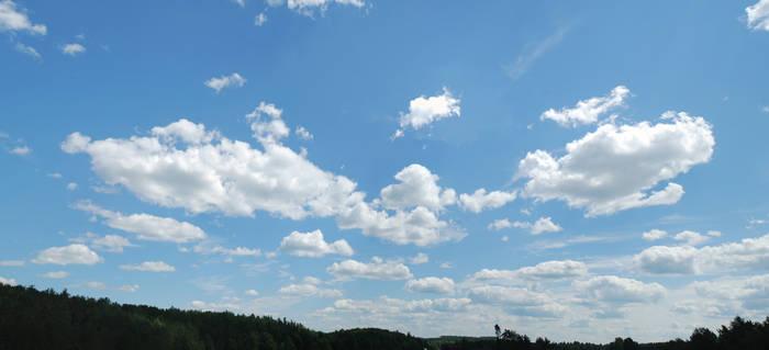 big blue sky stock