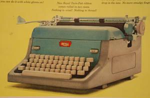Royal typewriter stock by fahrmboy-stock