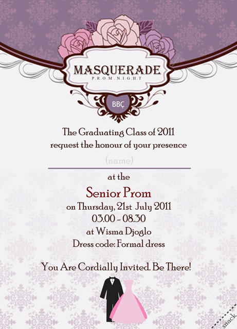 Prom night invitation card by loloniie on deviantart prom night invitation card by loloniie stopboris Choice Image