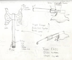 Oliver Harthtorn's Upgraded Weapon by AngelicDemonSlayer