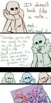 Undertale AU Comic - My good side 3/3 by Orez-Suke