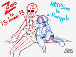 Zero and MAJ?Sans WIP (?) by Orez-Suke