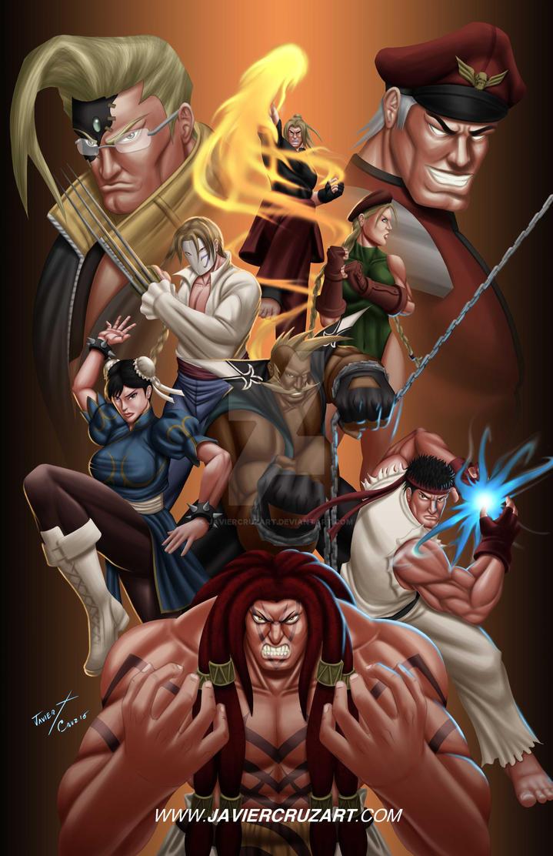 Street Fighter V by JavierCruzArt