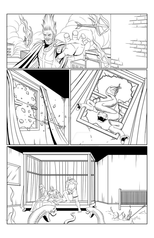 Batman sample page2 by JavierCruzArt