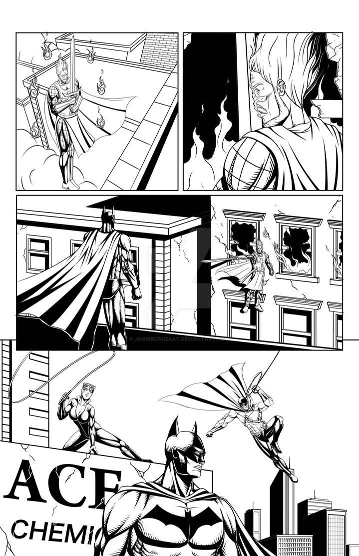 Batman sample page3 by JavierCruzArt