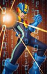 Mega Man NT by JavierCruzArt
