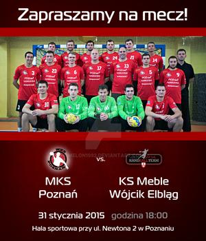 Promo material - invitation MKS Poznan match 4