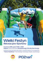 Wielki Festyn Rekreacyjno-Sportowy 2016 poster