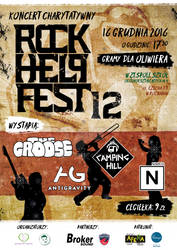 Rock Help Fest 12 - Official Poster