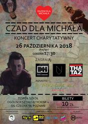 Czad dla Michala - charity concert poster 2018